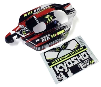 KYOIFB114T2 Kyosho Inferno NEO 3.0 Painted Body Set Type 2 - Red