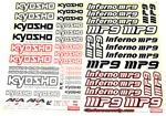 KYOIFD401 Kyosho Inferno MP9 Decal Sheet