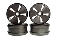 Kyosho Dish Wheels - Gun Metal