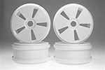 Kyosho Dish Wheel - Hard - White