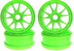 KYOIFH002KG Kyosho 10 Spoke Wheels - Green