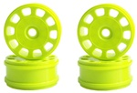 KYOIFH003KY Kyosho Inferno MP9 Yellow Slotted Wheels - Package of 4