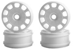 KYOIFH003W Kyosho Inferno MP9 White Slotted Wheels - Package of 4