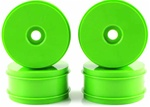 KYOIFH004KG Kyosho Inferno MP9 Dish Wheels Larger Diameter Green - Package of 4