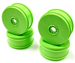 KYOIFH006KG Kyosho Inferno MP9 TKi4 Dish Wheel Green - Package of 4