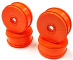 KYOIFH006KO Kyosho Inferno MP9 TKi4 Dish Wheel Orange - Package of 4