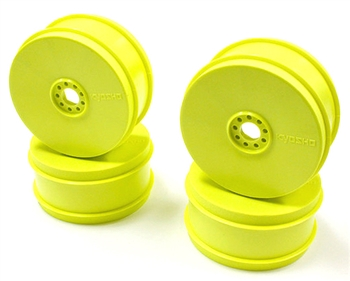 KYOIFH006KY Kyosho Inferno MP9 TKi4 Dish Wheel Yellow - Package of 4
