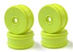 KYOIFH006KY-H Kyosho Inferno MP9 TKi4 Dish Wheel Yellow Hard- Package of 4