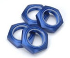 KYOIFW336BL Kyosho Inferno Nylon Locking 17mm Wheel Nut Blue Anodized 7075 Aluminum