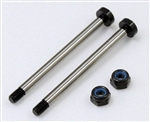 KYOIFW458 Kyosho Inferno MP9 Hard Front Outer Suspension Shafts with Nuts - Package of 2