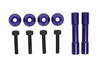 Kyosho Wing Stay Posts Aluminum  x2, 4x Aluminum Washers and 4 Cap Screws