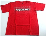 KYOKA10002S3X Kyosho K Fade Short Sleeve T-Shirt Red Size 3XL