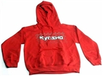 KYOKA20002H2XL Kyosho K Fade Sweatshirt With Hood Red - 2X Large