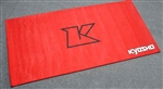 KYOKA30003R Kyosho Big K Red Pit Mat - 2' x 4'