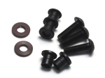 KYOLA256GM Kyosho Steering King Pin Gunmetal Ultima and Lazer - Package of 4