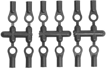 KYOLA43H Kyosho 5.8mm Hard Plastic Ball Ends - Package of 12