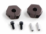 KYOLAW30GM Kyosho Aluminum Clamping Wheel Hubs Gunmetal - Package of 2