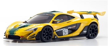 KYOMZP235YG-B McLaren P1 GTR Yellow/Green Body Set for MR-03W-MM Chassis