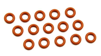 KYOORG045 Kyosho Silicone O-Ring P4.5 Orange - Package of 15