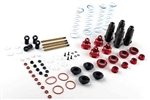 KYOSXW010 Kyosho Scorpion XXL 7075 Hard Coated Aluminum Shock Set Red - Package of 4