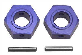 KYOTR126 Kyosho Wheel Hub Blue Anodized Aluminum for DRX, DRT, DBX and DST - Package of 2