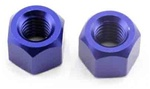 KYOTR127 Kyosho Wheel Nut Blue Anodized Aluminum for DRT, DBX and DST - Package of 2