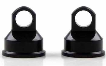 KYOTRW105-04BK Kyosho Black Shock Cap - Package of 2