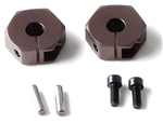 KYOUMW523GM Kyosho Wide Clamping Wheel Hubs in Gunmetal Lazer and Ultimas