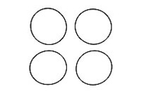 KYOVZW020-01 Kyosho Differential Case Seal - Package of 4