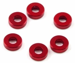 KYOW0144R Kyosho TF-6 Red Aluminum Collar 3 x 7 x 2mm - Package of 6