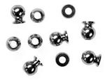 KYOW0154 Kyosho 6.8mm Flanged Hard Ball M3 - Package of 10