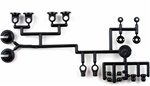 KYOW5303-05 Kyosho Big Bore Triple Cap Shock Plastic Parts Set - Package of 2