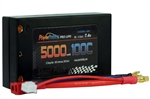 PHB2S5000100CSH 2S 7.4C 5000MAH 100C Shorty Lipo w/ 4mm Bullet Connectors