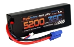 PHB2S520035CEC5HCS 5200mAh 7.4V 2S 35C LiPo Battery with Hardwired EC5