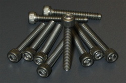 "Racer's Edge 4-40 x 3/4"" Ti Caphead Screw Pkg of 10"