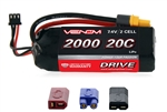 VNR15023 Venom 2s 7.4V 2000mAh 20C 2-CELL LiPo Battery with Universal Connectors