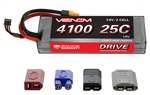 VNR1557 Venom 2s 7.4V 4100mAh 25C 2-CELL LiPo Hard Case Battery with Universal Connectors