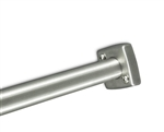 "Heavy Duty Square Stainless Steel Shower Rod Flange for 1-1/4"" Shower Rod"