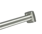 "Square Stainless Steel Shower Rod Flange for 1-1/4"" Shower Rod"