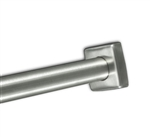 "Square Stainless Steel Shower Rod Flange for 1"" Shower Rod"