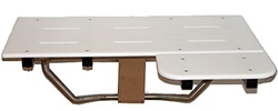 L-Shaped Reversible Shower Seat - White Poly Top