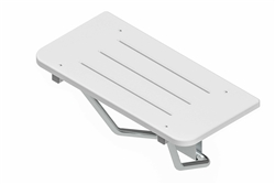 Rectangular Shower Seat - White Sanalite® Deck