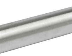 "1"" O.D. Stainless Steel Shower Rod, 60"" Length, Satin Stainless Finish - 20 Gauge"