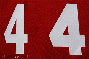 Corner Bumper Numbers (For 6 or 8-inch Bumper: 1 Set)