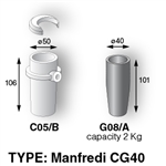 Crucible CG40 For Manfredi (Graphite & Ceramic) C05/B - G08/A [2KG Capacity]
