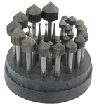 22 Piece Stone Setting Carbon Steel Bur Set