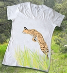 Leaping Serval Tee