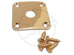 Square Jack Plate - Curved - Gold