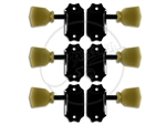 Gotoh - SD-90-SL Machine Heads - Set - Black/Green