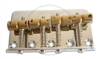 Wilkinson Classic Style 4 String Bass Bridge with offset Brass saddles